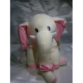 Peluche elefante rosado 35 cm