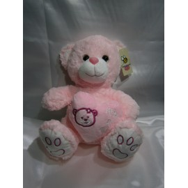 Peluche oso its a girl rosado 30 cm