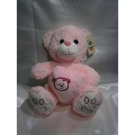 Peluche oso rosado
