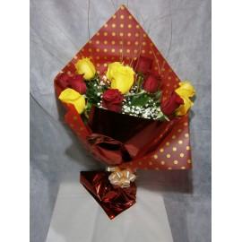 Ramo español 12 rosas