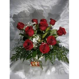 12 rosas para  velatorio