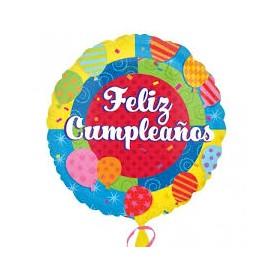 Globos feliz cumpleaños varios diseños