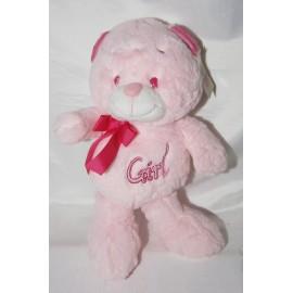 Peluche oso rosado girl 40 cm