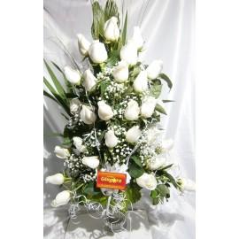 Florero 24 rosas (condolencia)
