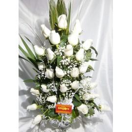 Florero 36 rosas (condolencia)