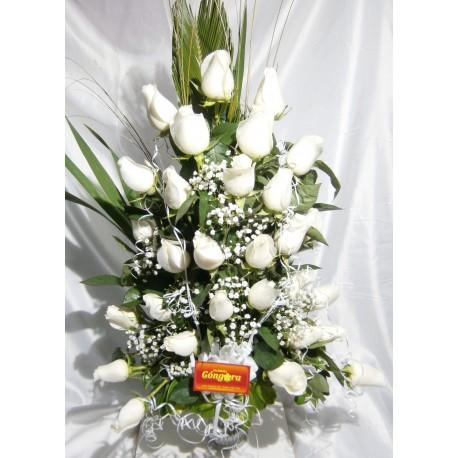 Florero 36 rosas