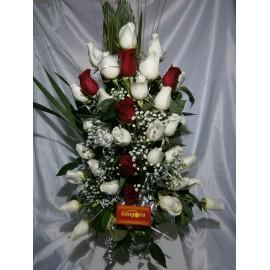 florero 36 rosas en degrade
