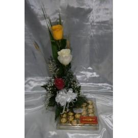 Caja Ferrero Rocher y Rosas