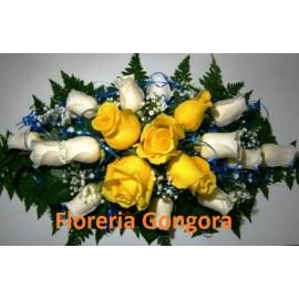 centro de mesa 18 Rosas URUGUAY