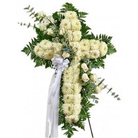 Cruz fúnebre con caballete de 1.5 metros